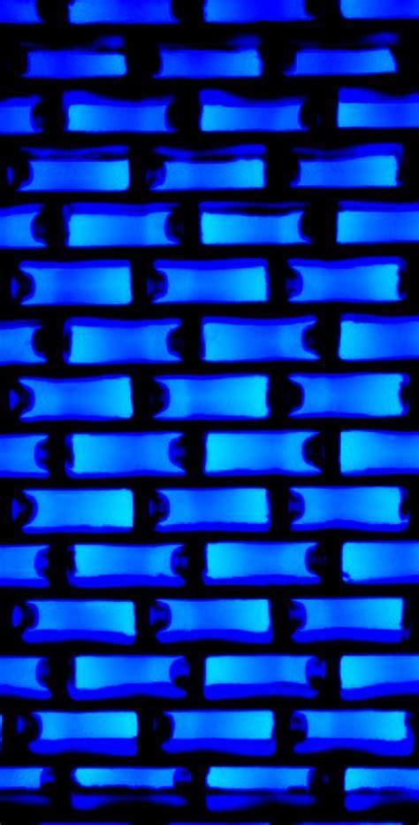 blue neon blocks wallpaper abstract  geometric