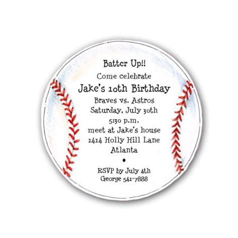 diecut baseball birthday party invitations paperstyle