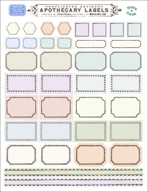 ornate apothecary blank labels  cathe holden