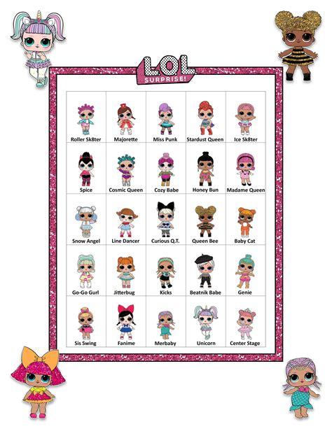 lol dolls bingo