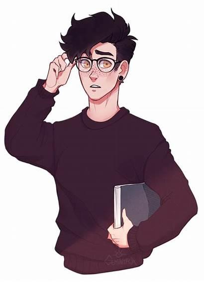 Shy Boy Drawing Character Deviantart Male Glasses