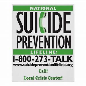 Suicide Prevention POSTER | Zazzle
