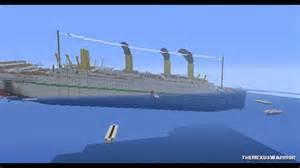 minecraft h m h s britannic sinking youtube