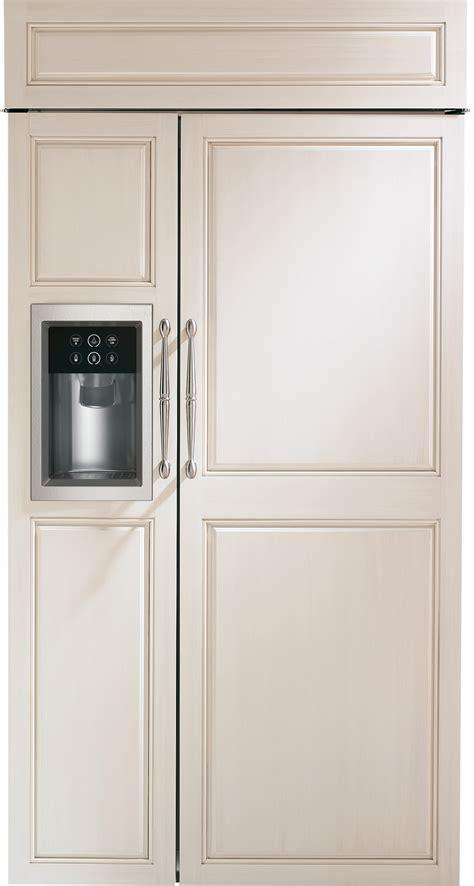 monogram zisbdk   built  side  side refrigerator  adjustable glass shelves