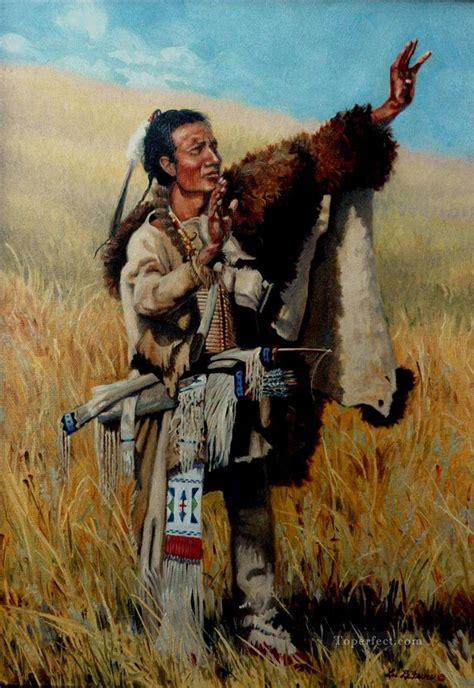 Ureinwohner Amerikas Indianer 73 Gemälde mit öl zu verkaufen