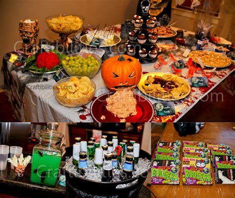 Kids Halloween Party  Decor Food Treats & Zombie Family