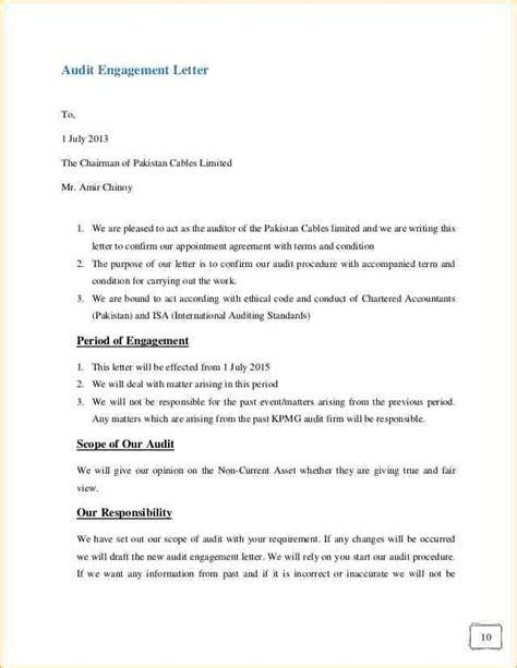 non engagement letter audit engagement letter sle template resume builder