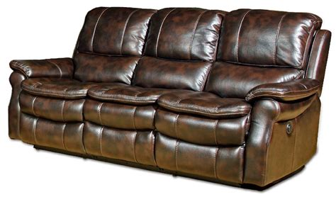 Real Leather Reclining Sofa Trevino Smoke Leather