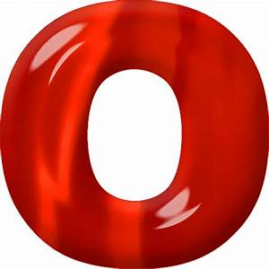 Presentation Alphabets: Red Glass Letter O