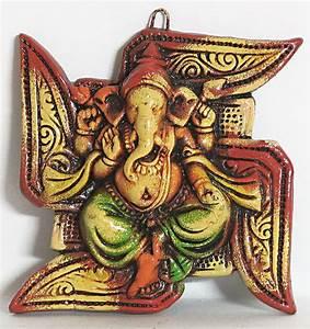 An Fitting Size Chart Ganesha Sitting On Swastika Auspicious Hindu Symbol
