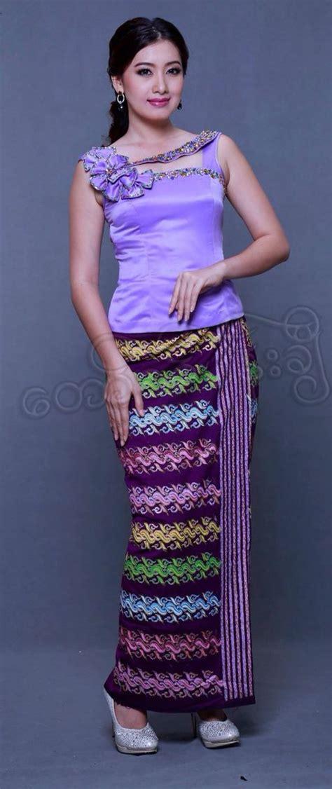 myanmar traditional dress fashion pinterest