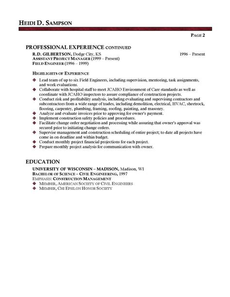 facilities manager professional resume sample