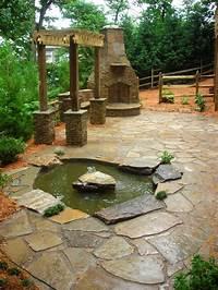 interesting patio pond design ideas Fascinating Patio Created On Stone Flooring Enhanced With ...