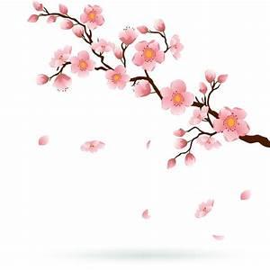 sticker cherry blossom avec la chute des petales o pixers With affiche chambre bébé avec livraison fleurs limoges 87