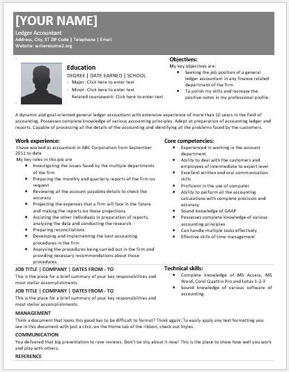 resume general ledger accountant cover letter best