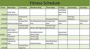 weekly gym workout schedule fitness schedule template With fitness plan template weekly