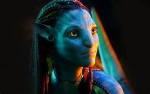 Wallpaper black, actress, Avatar, neytiri, Zoe Saldana ...