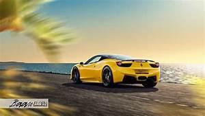 Yellow Ferrari 458 Italia Gets ADV 1 Wheels by Baan Velgen