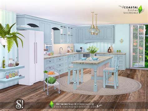 coastal kitchen  sims   simsdomination