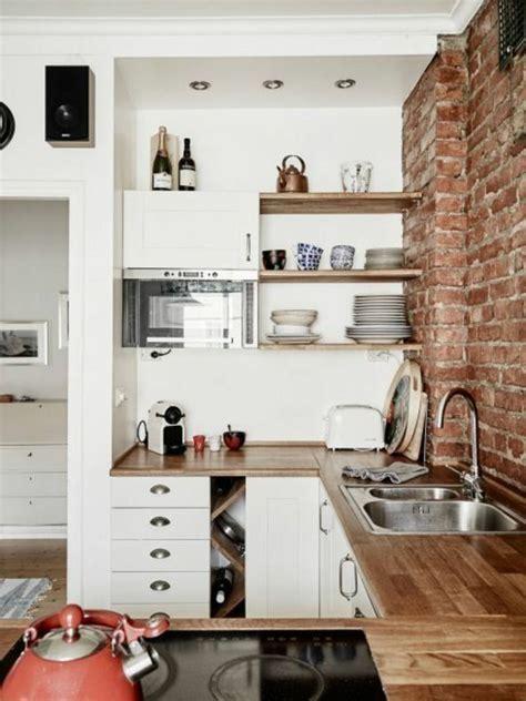 cuisine avec brique comment aménager une cuisine idées en photos