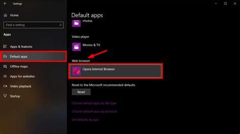 jak zmienić domyślną przegląę w systemie windows 10