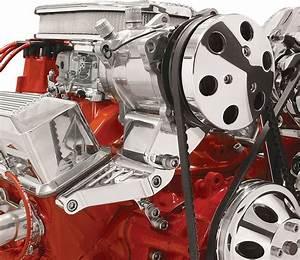 Polished Sanden Ac Compressor Bracket Top Mount Long Pump Passenger Side Chevy