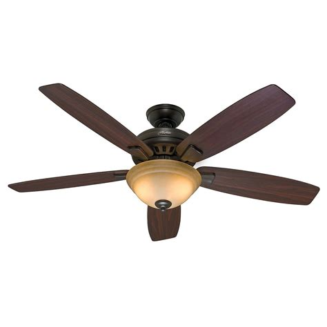 control ceiling fan with alexa 54 quot hunter premier bronze ceiling fan toffee glass light