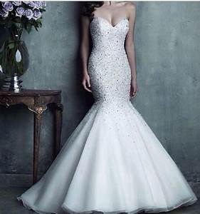 Beautiful bling mermaid fishtail wedding dress | Wedding ...