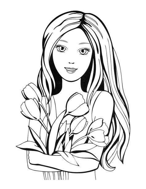 ladies coloring pages    print