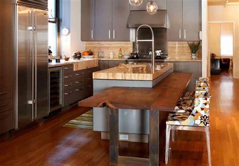 table ilot cuisine cuisine ouverte avec ilot 3 ilot central cuisine avec table int233gr233e deco maison moderne