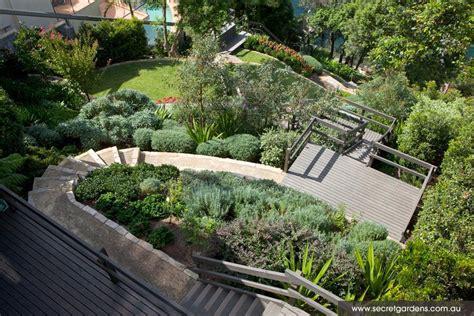 steep slope garden design garden design seaforth secret garden sydney great design for steep slope garden ideas