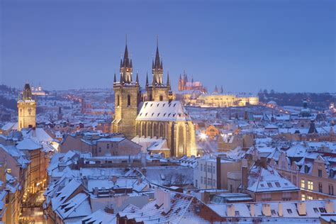 prague winter weather visiting events