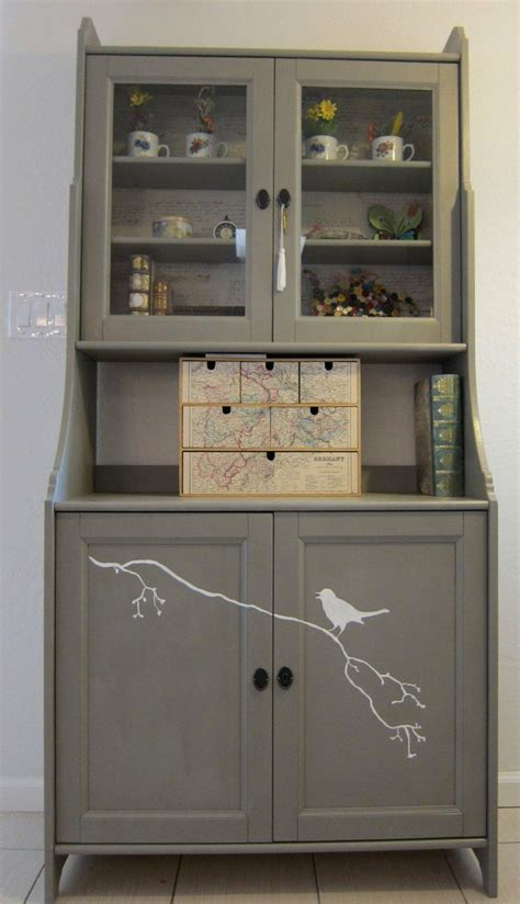 buffet kitchen furniture leksvik buffet grey ikea hack kitchen hutch hutch