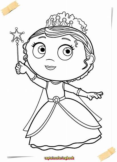 Super Why Coloring Pages Princess Presto Title
