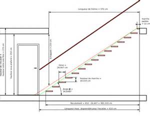 Dimension Escalier Quart Tournant Haut by Image Gallery Plans D Escaliers