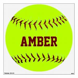 personalized girls fastpitch softball wall decal zazzle With the best ideas softball wall decals