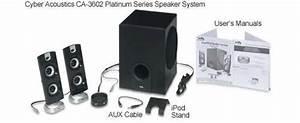 Cyber Acoustics Ca-3602 Platinum Series Speaker System