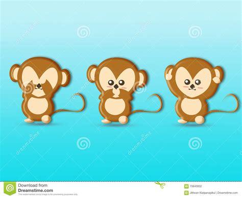 three wise monkeys background royalty free stock cartoondealer 70640932