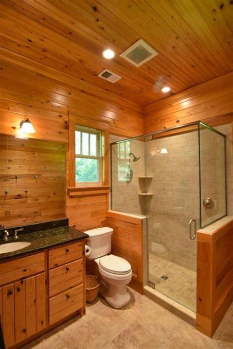rustic small bathroom walk  shower glass enclosures