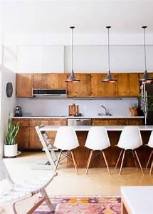 Cuisine Semi Ouverte Avec Bar : id e relooking cuisine une cuisine en bois vintage semi ~ Melissatoandfro.com Idées de Décoration