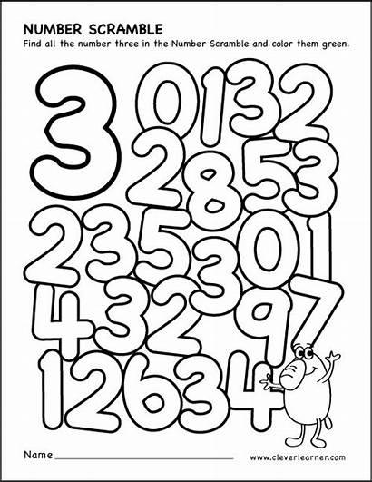 Number Preschool Scramble Worksheet Worksheets Activity Numbers