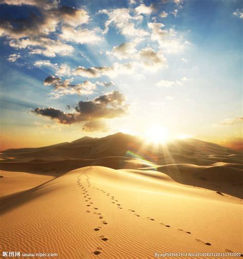 沙漠足迹摄影图__自然风景_自然景观_摄影图库_昵图网nipic.com