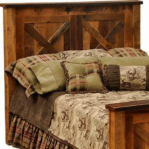 barnwood barndoor headboard king rustic headboards With barnwood headboard king