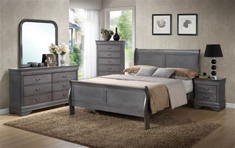 Rustic Gray Bedroom Sets by Unique Rustic Grey Sleigh Bedroom Set King 7pc Set 699