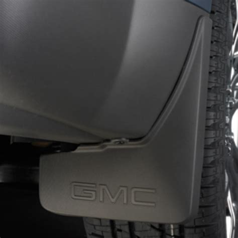 terrain splash guards rear molded set gmc logo gray