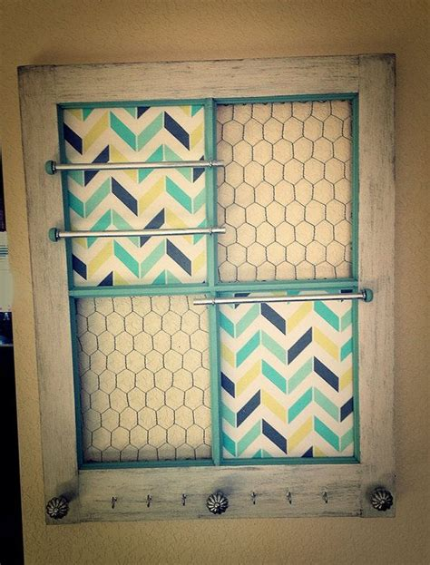 pane wooden window repurposed  jewelry