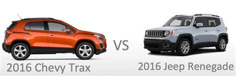 chevy jeep 2016 compare new 2016 jeep renegade vs chevy trax price mpg