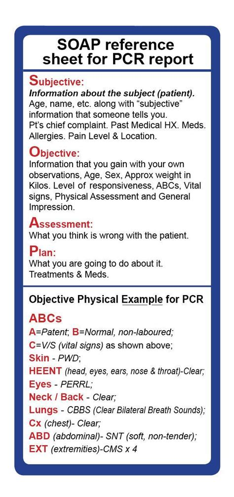 image result  emt assessment cheat sheet medical emergency medical technician paramedic
