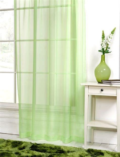 Lime Green Voile Net Curtain Panel Tony's Textiles Tonys Textiles