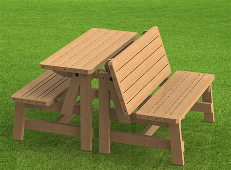 Picnic Table Bench Kit by Convertible Benches To Picnic Table Combination Building